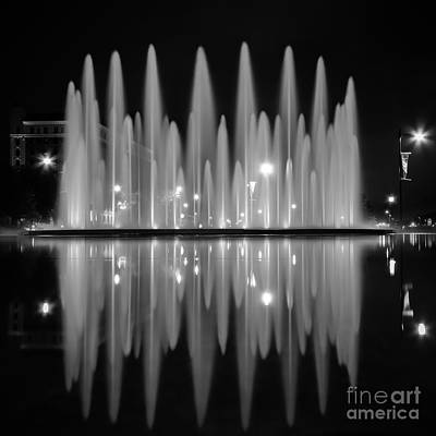 Photograph - Fountain Reflections by Lisa Plymell