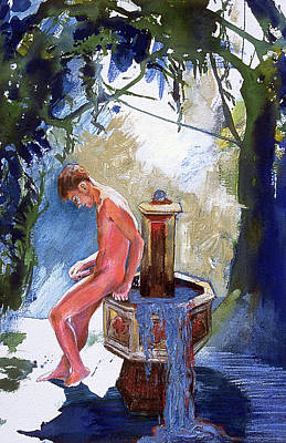 Fountain Print by Rene Capone
