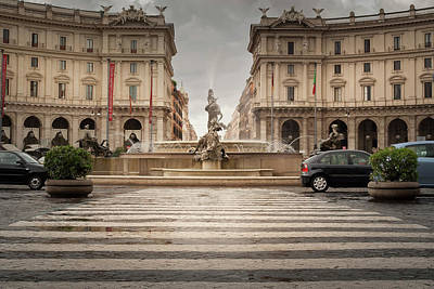Photograph - Fountain Rome by Alex Saunders