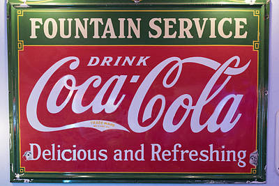 Fountain Service - Coke Print by Jon Berghoff
