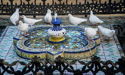 Photograph - Fountain Seville Spain by Phil Cardamone