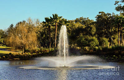 Photograph - Fountain Spray At Tpc Sawgrass by Randy J Heath