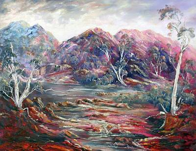 Painting - Fountain Springs Outback Australia by Ryn Shell
