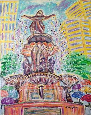 Painting - Fountain Square  Cincinnati  Ohio by Diane Pape