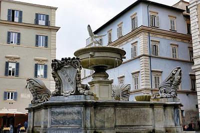 Photograph - Fountain In The Trastevere Neighborhood In Rome Italy by Richard Rosenshein