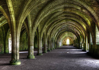 Fountains Abbey 3 Art Print by Svetlana Sewell