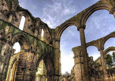 Fountains Abbey 5 Art Print by Svetlana Sewell