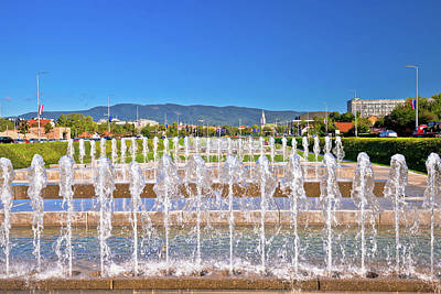 Photograph - Fountains And Cityscape In Capital City Of Zagreb by Brch Photography