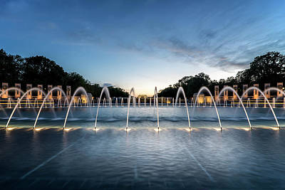 Photograph - Fountains At Blue Hour by Ryan Wyckoff