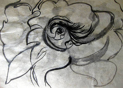 Abstract Forms Drawing - Fountains Bubbling Eye by Sarah Hornsby