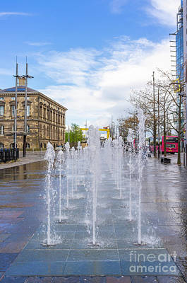 Photograph - Fountains, Queens Square, Belfast.  by Jim Orr