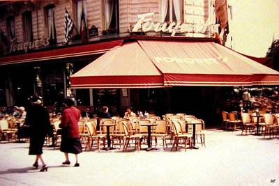 Photograph - Fouquets Of Paris 1955 by Will Borden