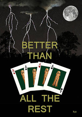 Mixed Media - Four Aces Better Than All The Rest by Eric Kempson
