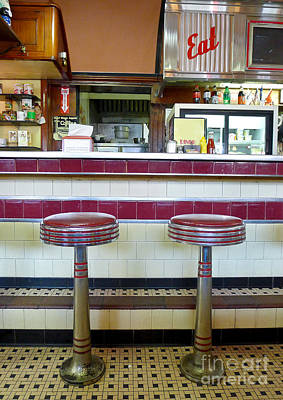 New Hampshire Photograph - Four Aces Diner by Edward Fielding