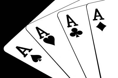 Card Photograph - Four Aces I by Tom Mc Nemar