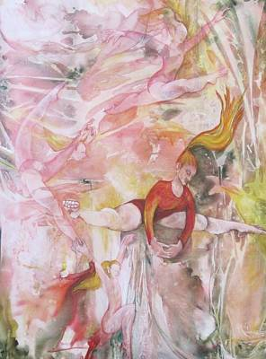 Four Acrobats Art Print by Georgia Annwell