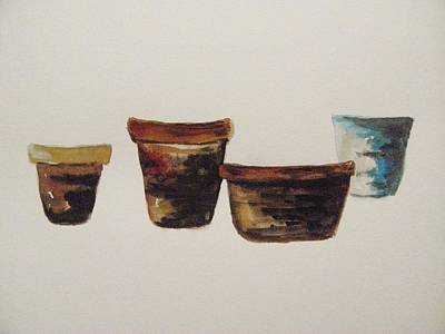 Painting - Four Aged Pots by John Williams