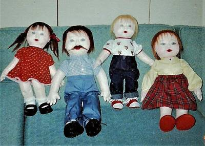 Photograph - Four Anatomically Correct Dolls by Denise Fulmer