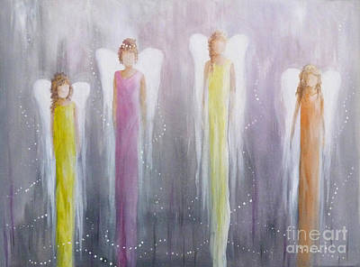 Painting - Four Angels by Julia Underwood
