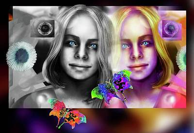 Digital Art - Four Beauties by Hartmut Jager