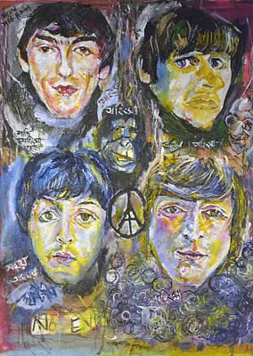 Four Beatles Original by Stefan Troberg