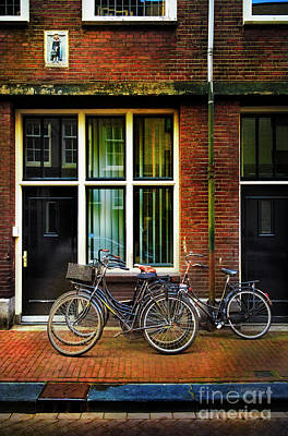 Photograph - Four Bicycles In The Den Anspeker by Craig J Satterlee