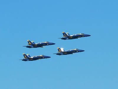 Photograph - Four Blue Angels by Bonnie Follett