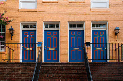 Photograph - Four Blue Doors by Monte Stevens