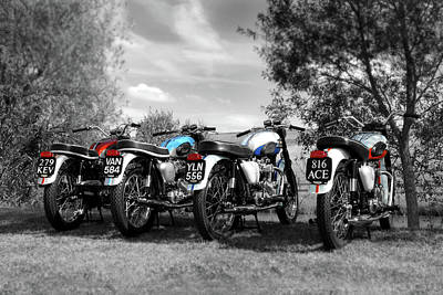 Triumph Bonneville Photograph - Four Bonnevilles by Mark Rogan