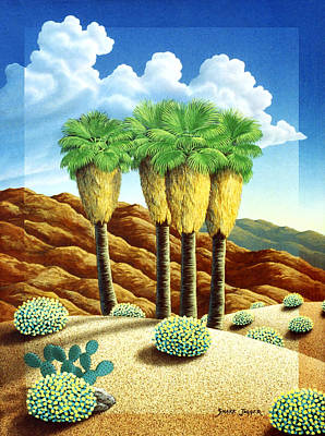 Four Bunch Palms Art Print by Snake Jagger