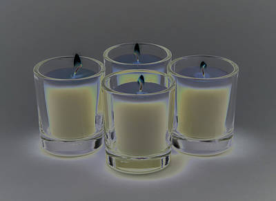 Photograph - Four Candles by Greg Thiemeyer