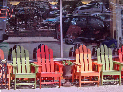 Photograph - Four Chairs by Paul Thompson