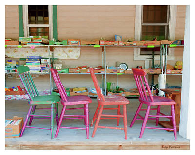 Photograph - Four Chairs by Trey Foerster