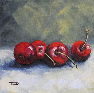 Four Cherries Art Print by Torrie Smiley