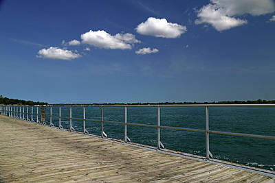 Photograph - Four Clouds Over The Boardwalk by Mary Bedy