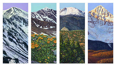 Painting - Four Colorado Peaks by James W Johnson