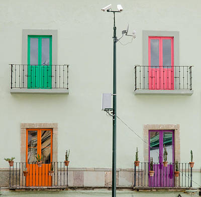 Guanajuato Photograph - Four Coloured Doors. by Rob Huntley
