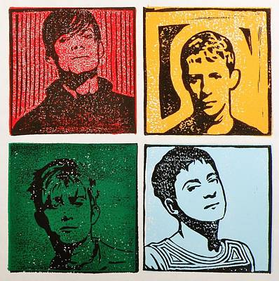 Dave Mixed Media - Four Compadres by Amit Mariam Jacobs