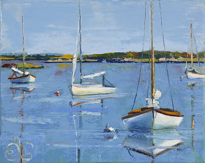 Painting - Four Daysailers by Trina Teele