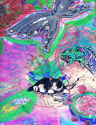 Four Degrees Of Separation Art Print by Anne-Elizabeth Whiteway