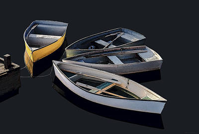 Photograph - Four Dinghies by Marty Saccone