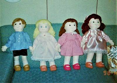 Photograph - Four Dolls 3 Girls And A Boy by Denise Fulmer