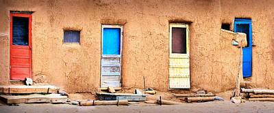 Photograph - Four Doors At Taos by Nadalyn Larsen