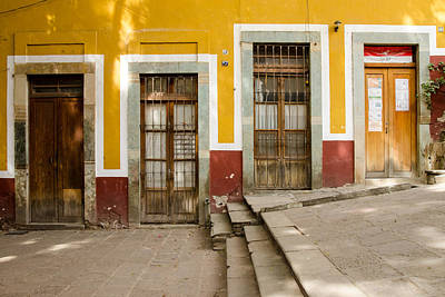 Photograph - Four Doors. Guanajuato, Mexico. by Rob Huntley