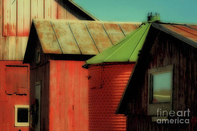 Photograph - Four Farm Buildings by Karen Adams