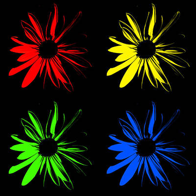 Impressionist Photograph - Four Flowers by Maggy Marsh