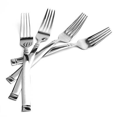 Tableware Photograph - Four Forks by Vicki McLead