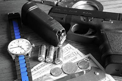 Glock Photograph - Four Forty Five  by Chuck Johnson