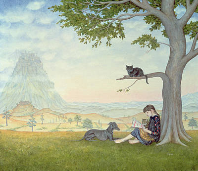 Cats And Dogs Painting - Four Friends by Ditz