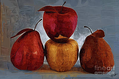 Digital Art - Four Fruits by Kirt Tisdale